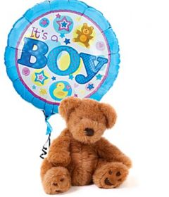 """It's a Boy"" Balloon with Bear"