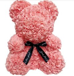 Luxury Peach Rose Teddy
