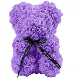 Small Luxury Purple Rose Teddy