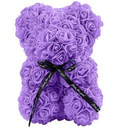 Small Luxury Purple Rose Teddy