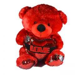 Plush Red Sequence Teddy